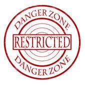 Zona de perigo — Vetor de Stock