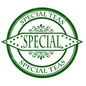 Special teas — Vector de stock
