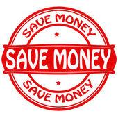 Geld sparen — Stockvector