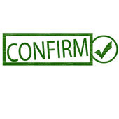 Confirm — Stock Vector