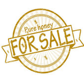 Pure honey for sale — Stock Vector