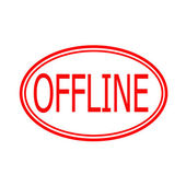 Offline — Vector de stock