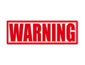 Warning — Vector de stock