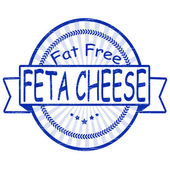 Fat free feta cheese — Vector de stock