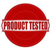Product tested — Stock Vector