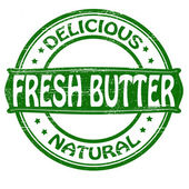 Fresh butter — Stock Vector