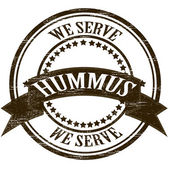 Serve hummus — Stockvector