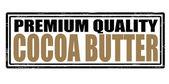 Cocoa butter — Stock Vector