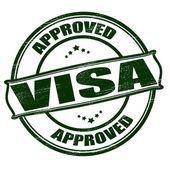 Approved visa — 图库矢量图片