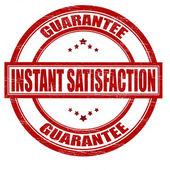Instant satisfaction — Stock Vector