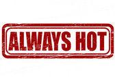 Always hot — Stock Vector