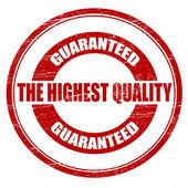 The highest quality — Stockvektor