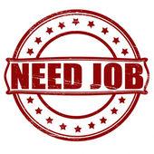 Necesito trabajo — Vector de stock