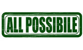 All possible — Stock Vector