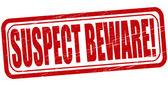 Suspect beware — Stock Vector