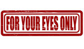 For your eyes only — Stock Vector