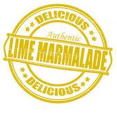Lime marmalade — Stock Vector