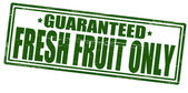 Frest fruit only — Stock Vector