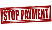Stop payment — Stock Vector