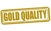 Gold quality — Stock Vector