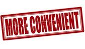 More convenient — Stock Vector