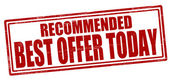 Best offer today — Stock Vector
