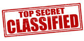 Top secret classified — Stock Vector