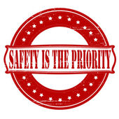 Safety is the priority — Stock Vector