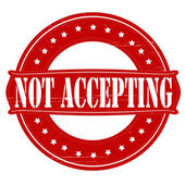Not accepting — Vector de stock