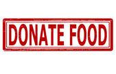 Donate food — Stock Vector
