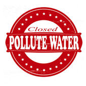 Pollute water — Stock Vector
