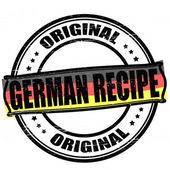 German recipe — Stock Vector