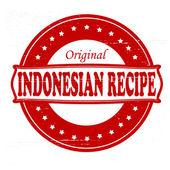 Indonesian recipe — Stock Vector