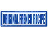 Original French recipe — Stock Vector
