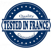 Tested in France — Stock Vector