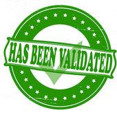 Has been validated — Stock Vector