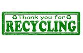 Thank you for recycling — Vector de stock