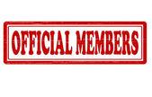 Oficial member — Stock Vector