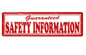 Safety information — Stock Vector