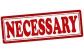 Necessary — Stock Vector