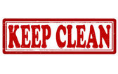 Keep clean — Vettoriale Stock