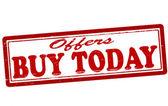 ¡ compre hoy — Vector de stock