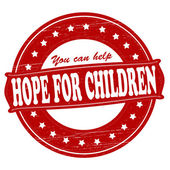 Hope for children — Vector de stock