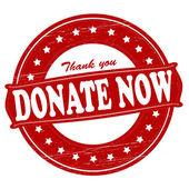 Donate now — Stock Vector