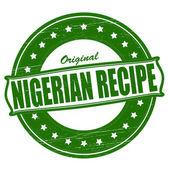 Original Nigerian recipe — Stock Vector