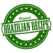 Original Brazilian recipe — Stock Vector