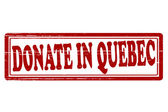 Donate in Quebec — Wektor stockowy