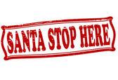 Santa stop here — Stockvektor