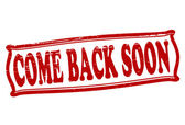Come back soon — Stock Vector