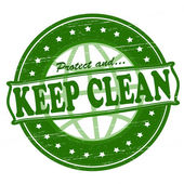 Keep clean — Stock Vector
